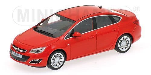 MINICHAMPS 410 042001 - Opel Astra 4dr 2012 - Red